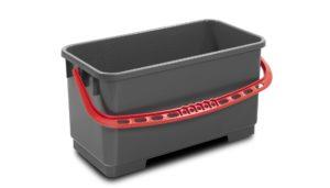 7030 GTR – Secchio 22 lt rettangolare, grigio manico rosso