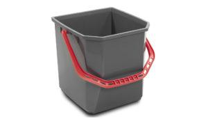 1005 GTR – Secchio 25 lt, grigio manico rosso